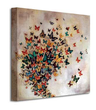 Butterflies On Pale Ochre