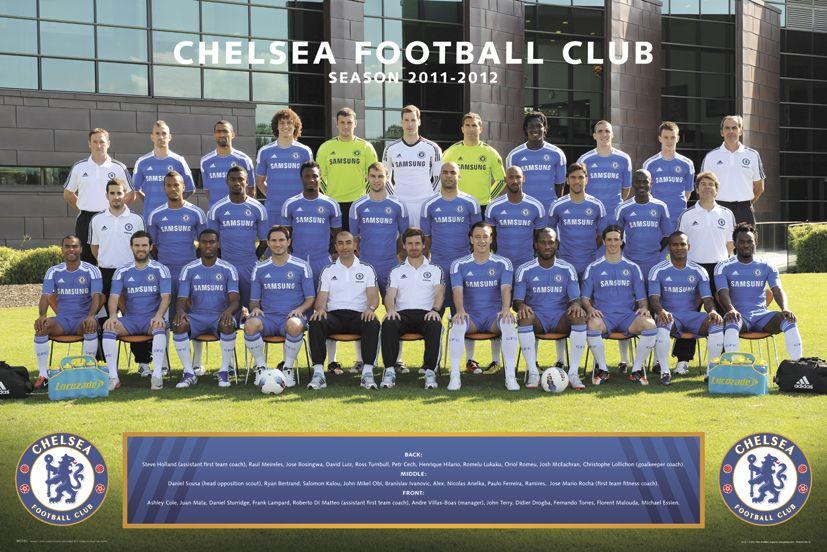4bf2f6f3c7bb plakat na ścianę ze zdjęciem drużynowym Chelsea na sezon 2011 12
