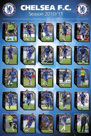 792fb6553e01 plakat na ścianę z sylwetkami zawodników Chelsea