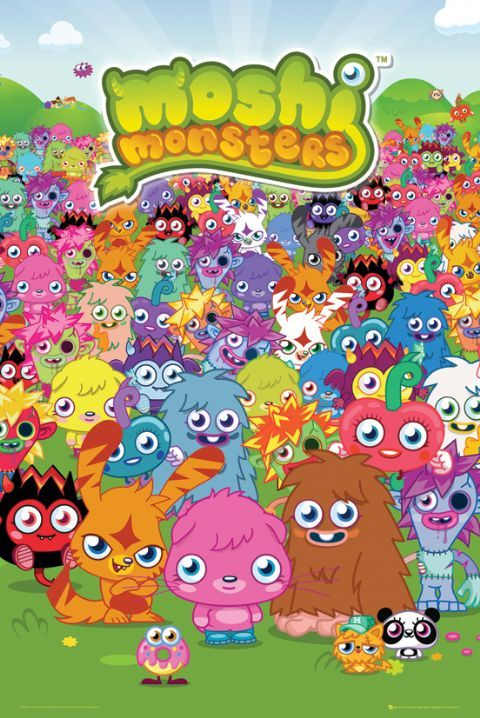 Moshi Monsters Grupa Plakat Sklep Eplakaty Pl