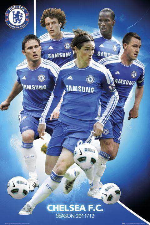 468e64e22966 plakat z piłkarzami Chelsea na sezon 2011 12