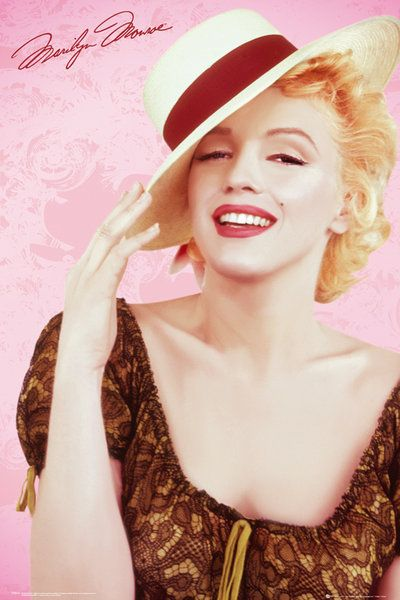 76b29e36e594a7 Marilyn Monroe Hat - plakat | Sklep ePlakaty.pl