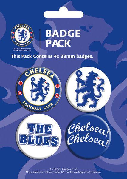 21d1b685f675 zestaw czterech kolorowych przypinek z Chelsea -
