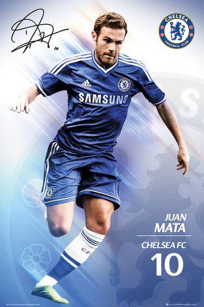 c9b0807be536 plakat na ścianę z zawodnikiem Chelsea Juanem Mata