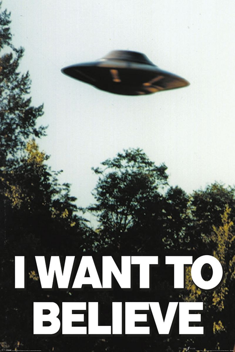 the x files i want to believe poster 61x91 5 cm ebay. Black Bedroom Furniture Sets. Home Design Ideas