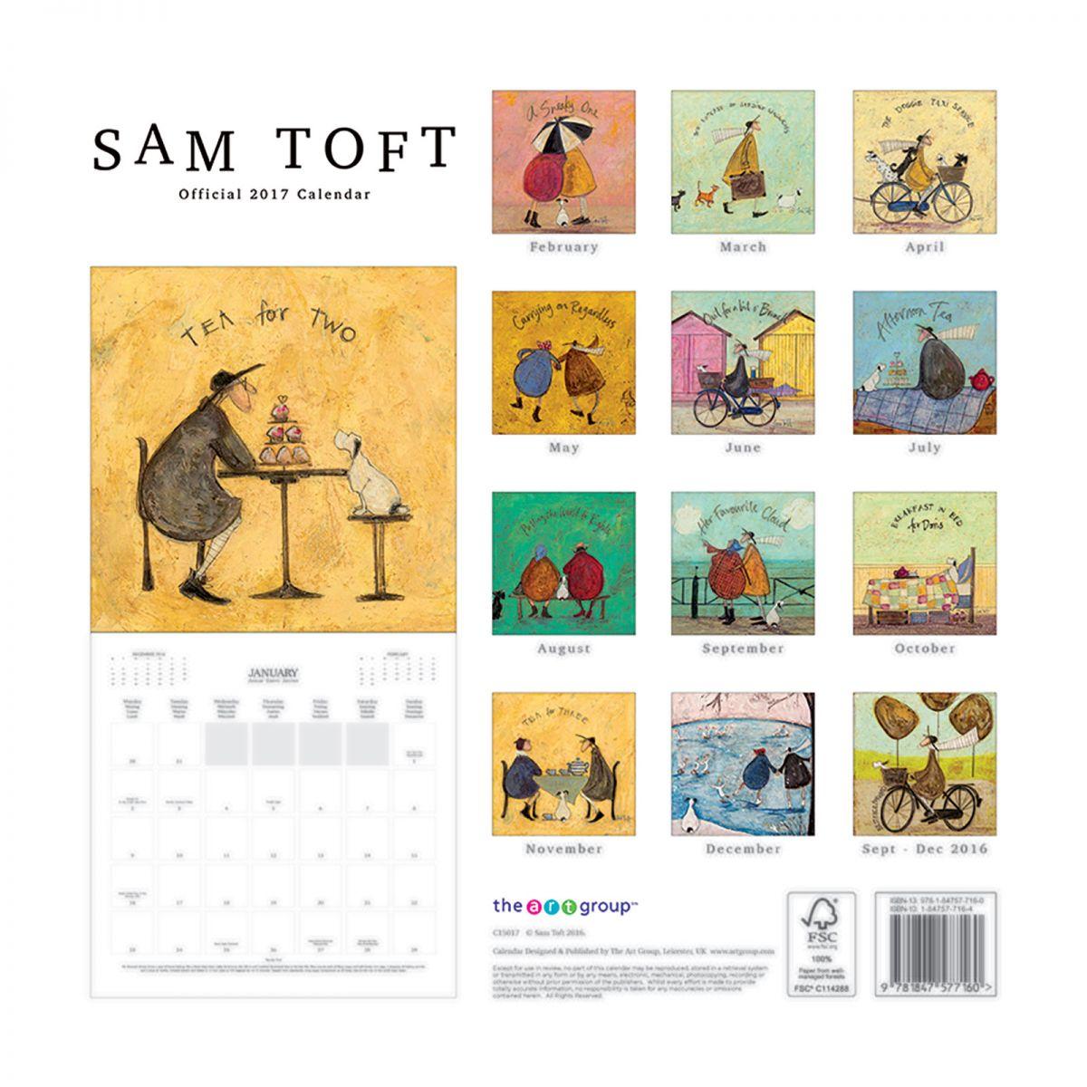 Sam Toft Oficjalny Kalendarz 2017