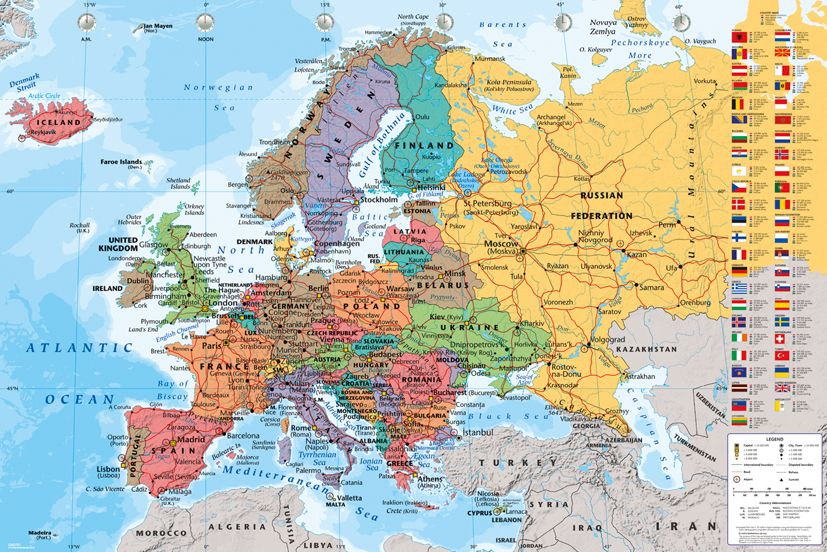Mapa Europy 2013 Plakat Sklep Eplakaty Pl