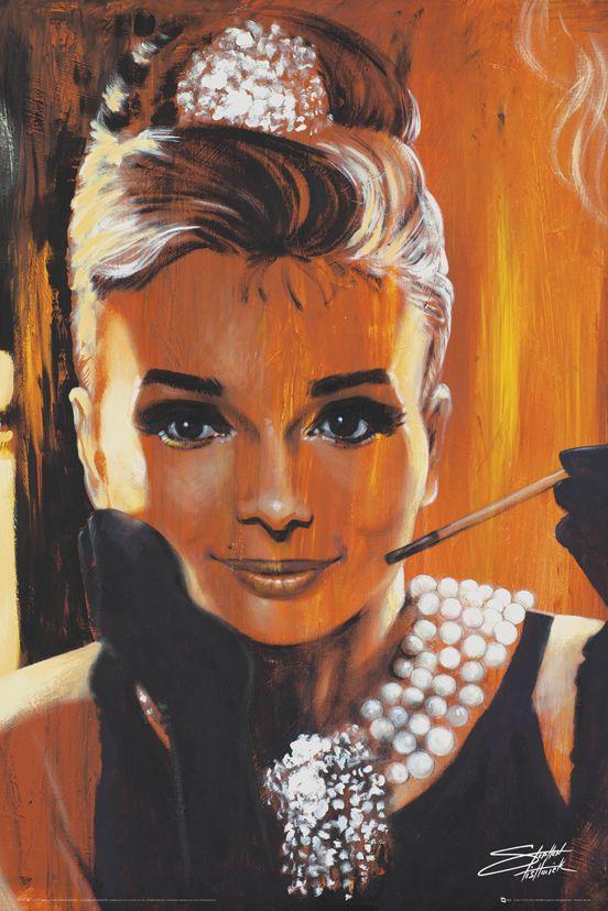 Audrey Hepburn Fishwick Breakfast Plakat