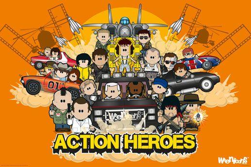 Weenicons Action Heroes Plakat