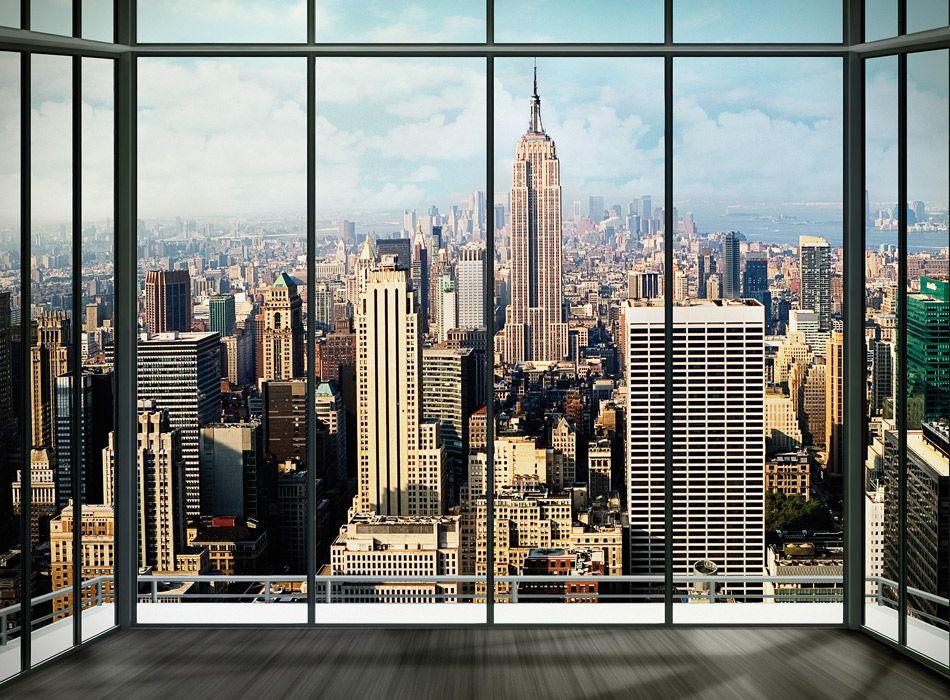 083e3e6e Nowy Jork - Widok z okna Apartament - fototapeta