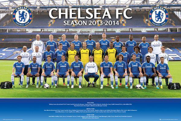 7f1350212f6d plakat ze zdjęciem drużynowym Chelsea na sezon 2013 14