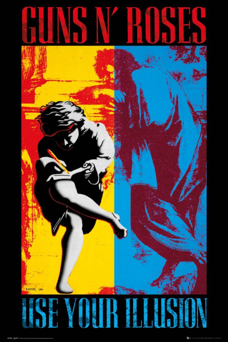 Duży Kolorowy Plakat Na ścianę Guns N Roses Illusion