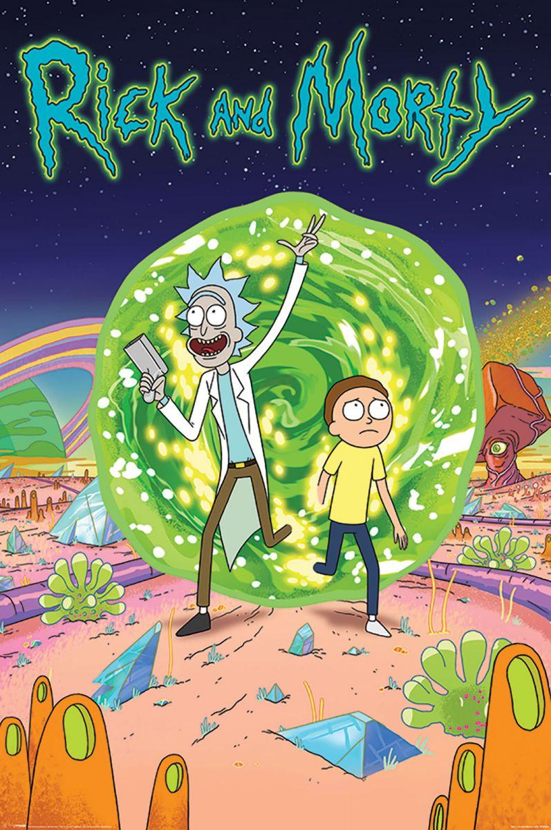Rick i morty magiczny portal plakat z serialu 61x91 5 cm for Z portal