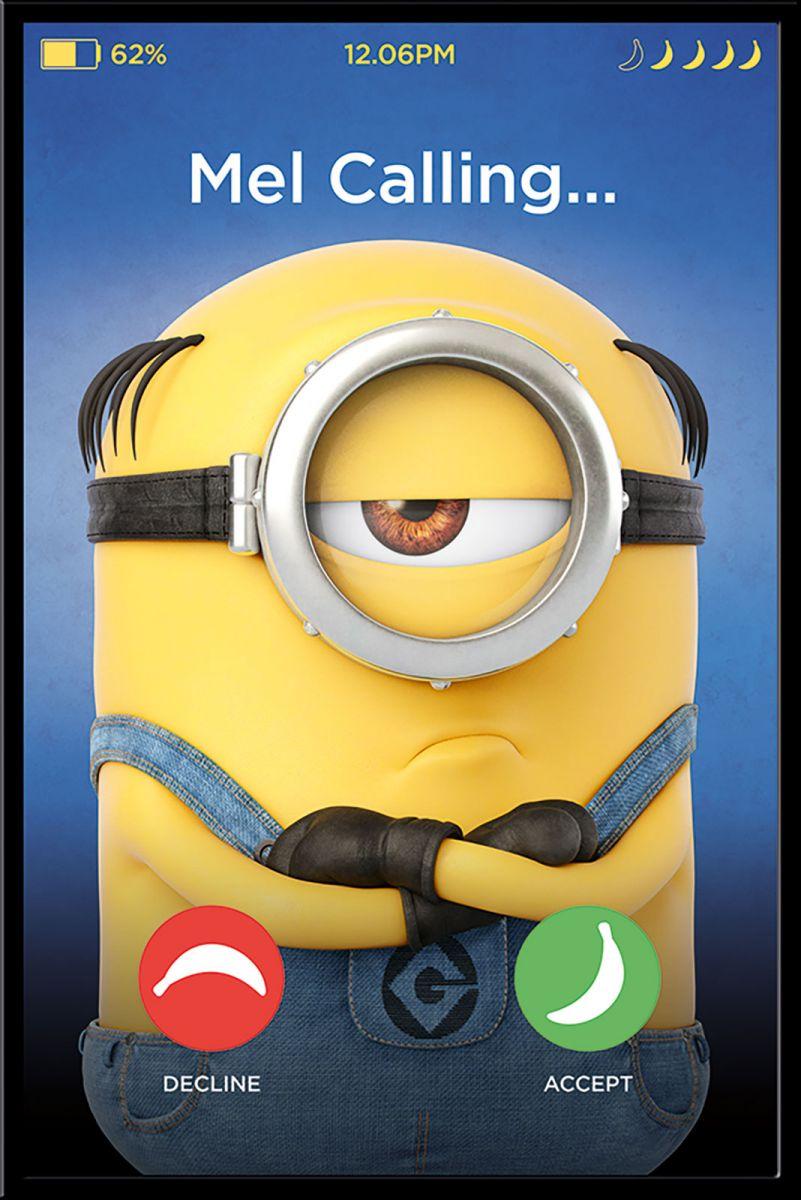 Gru Dru I Minionki Mel Calling Plakat Filmowy