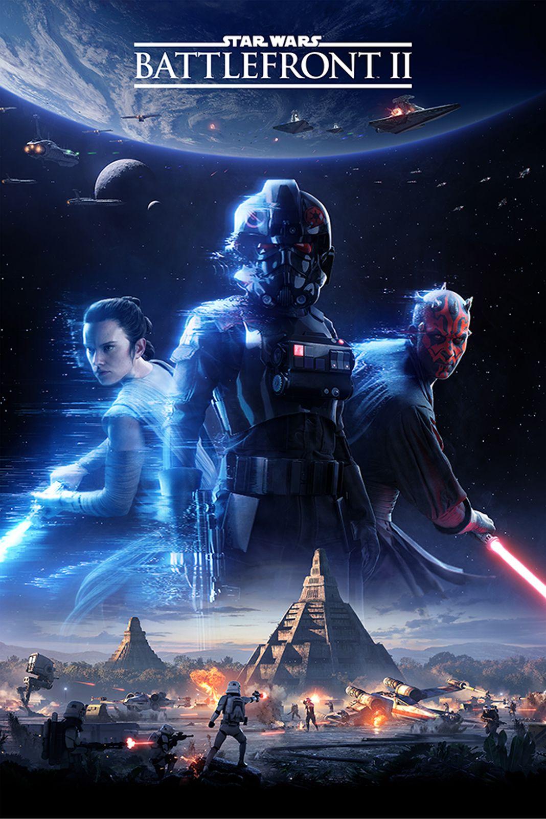 star wars battlefront 2 game cover poster 61x91 5 cm. Black Bedroom Furniture Sets. Home Design Ideas