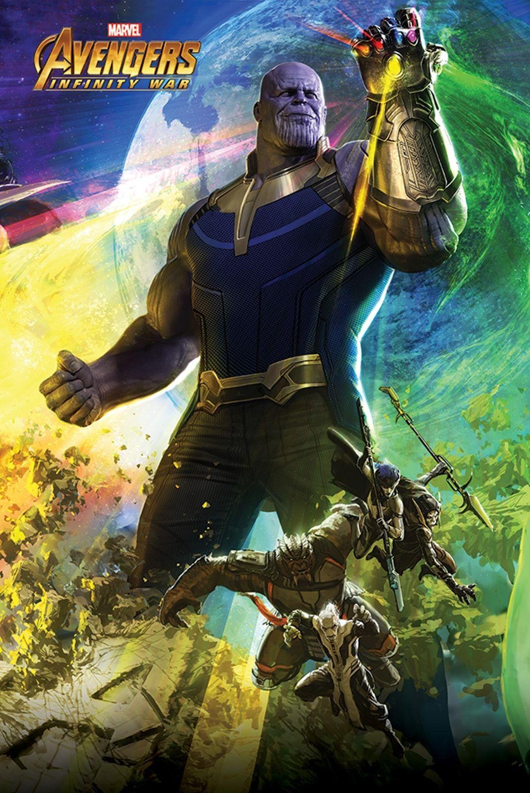 Avengers Infinity War Thanos Plakat Z Filmu