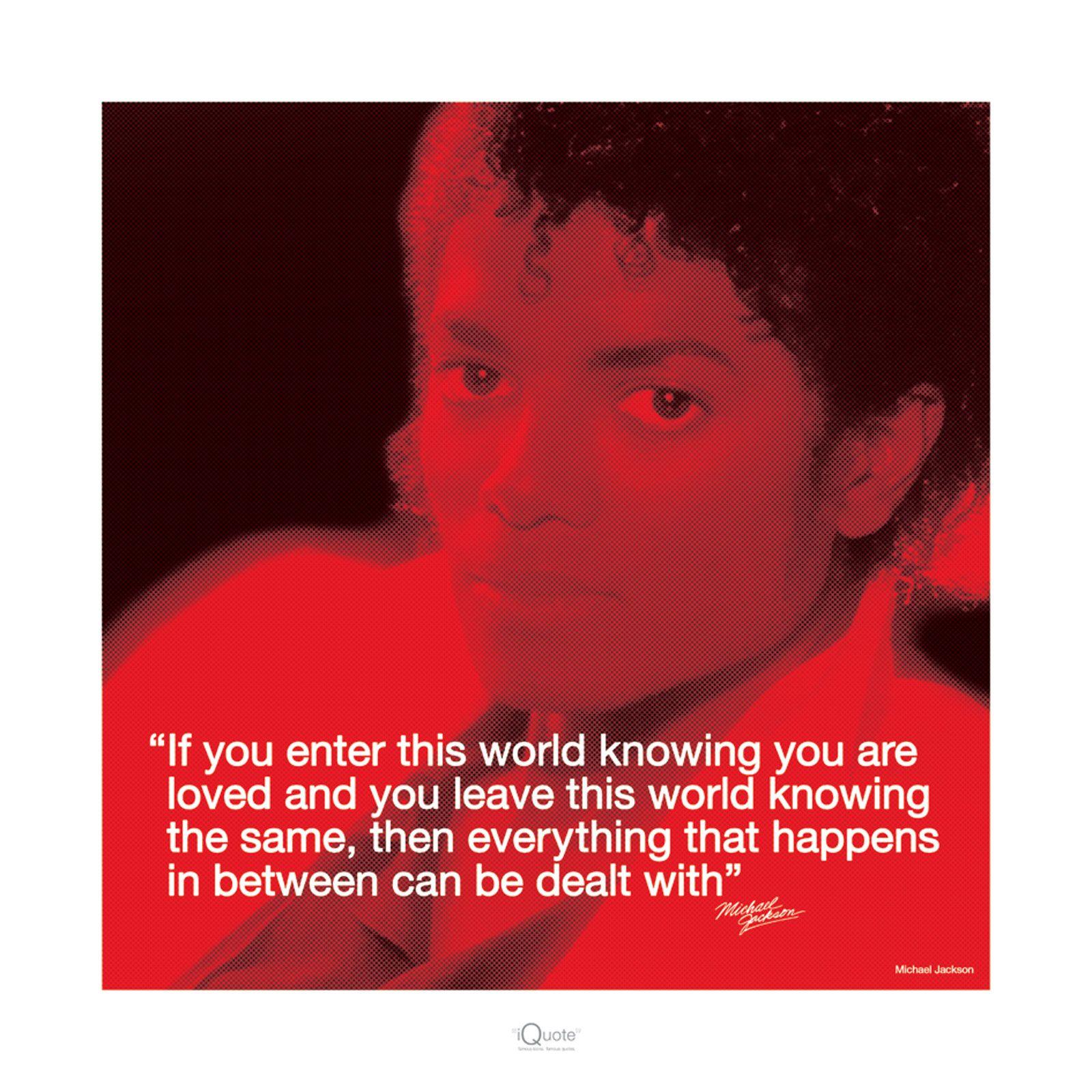 Michael Jackson życiowe Cytaty Reprodukcja