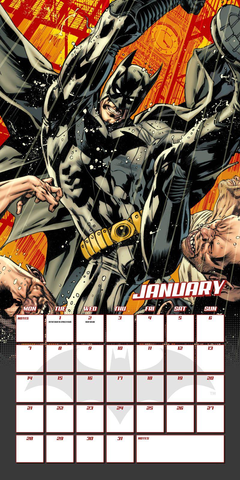 batman comics kalender 2019 wandkalender gr e 30x30 cm. Black Bedroom Furniture Sets. Home Design Ideas