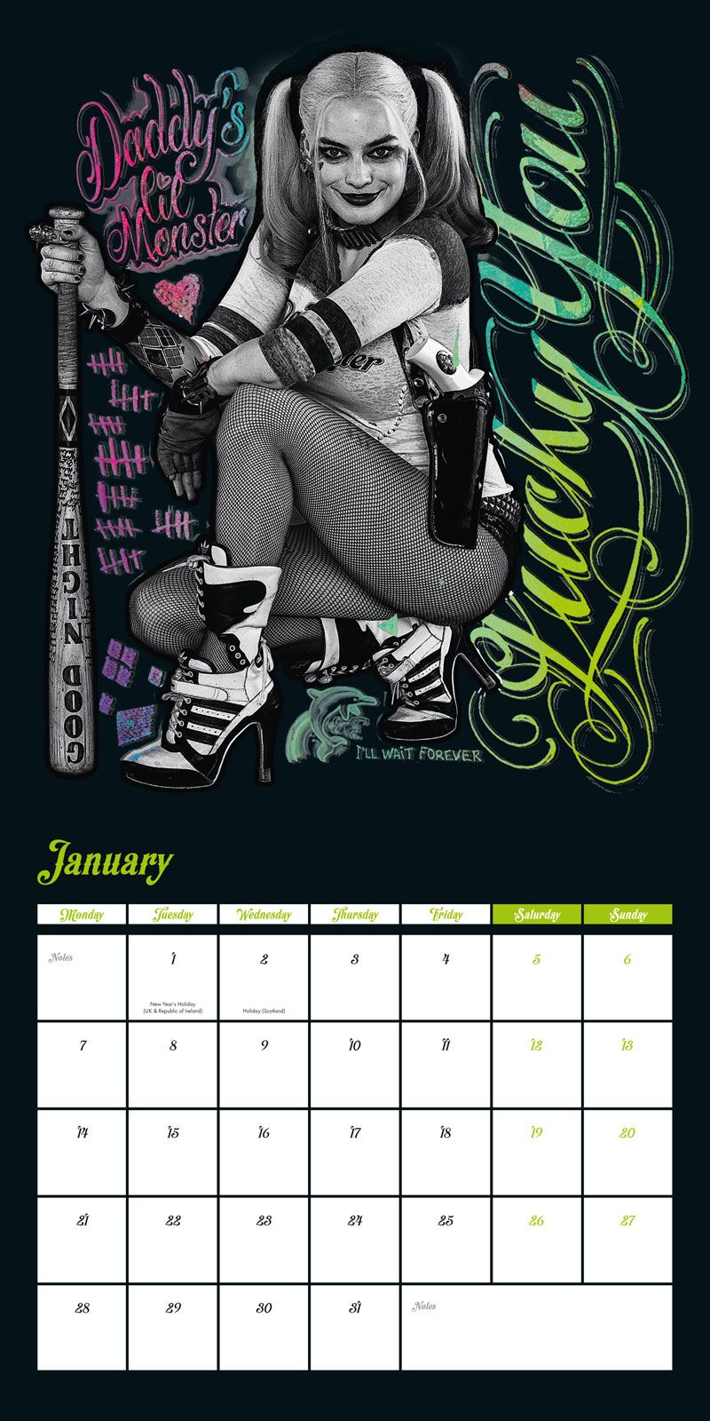 harley quinn kalender 2019 wandkalender gr e 30x30 cm. Black Bedroom Furniture Sets. Home Design Ideas