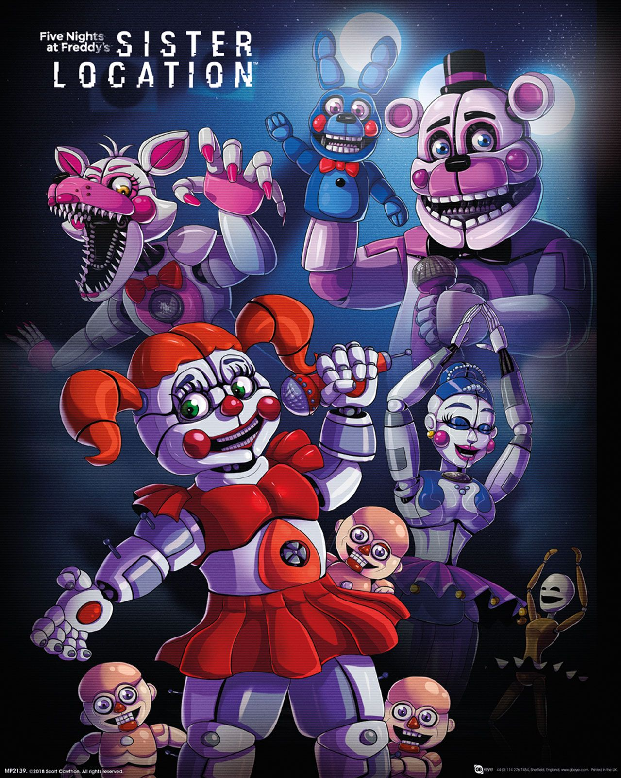 Five Nights at Freddy's Sister Location plakat
