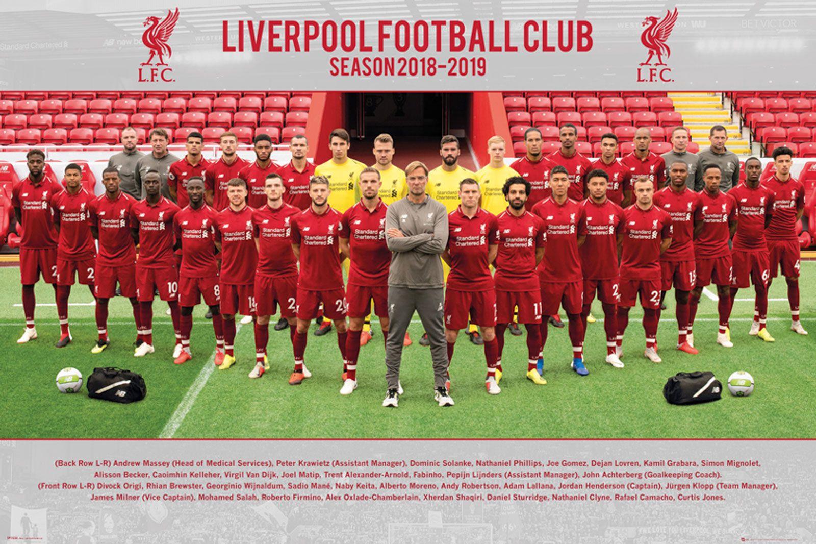 Oryginalny plakat z klubem Liverpool FC