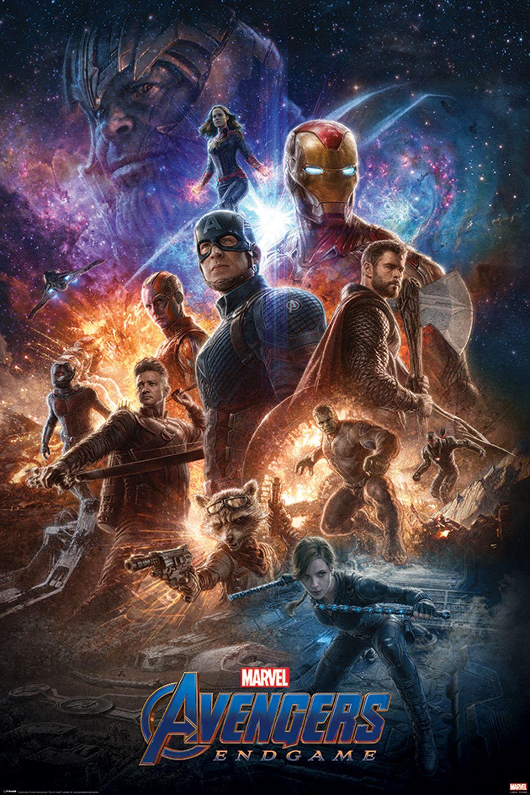 Poster z bohaterami Avengers: Endgame