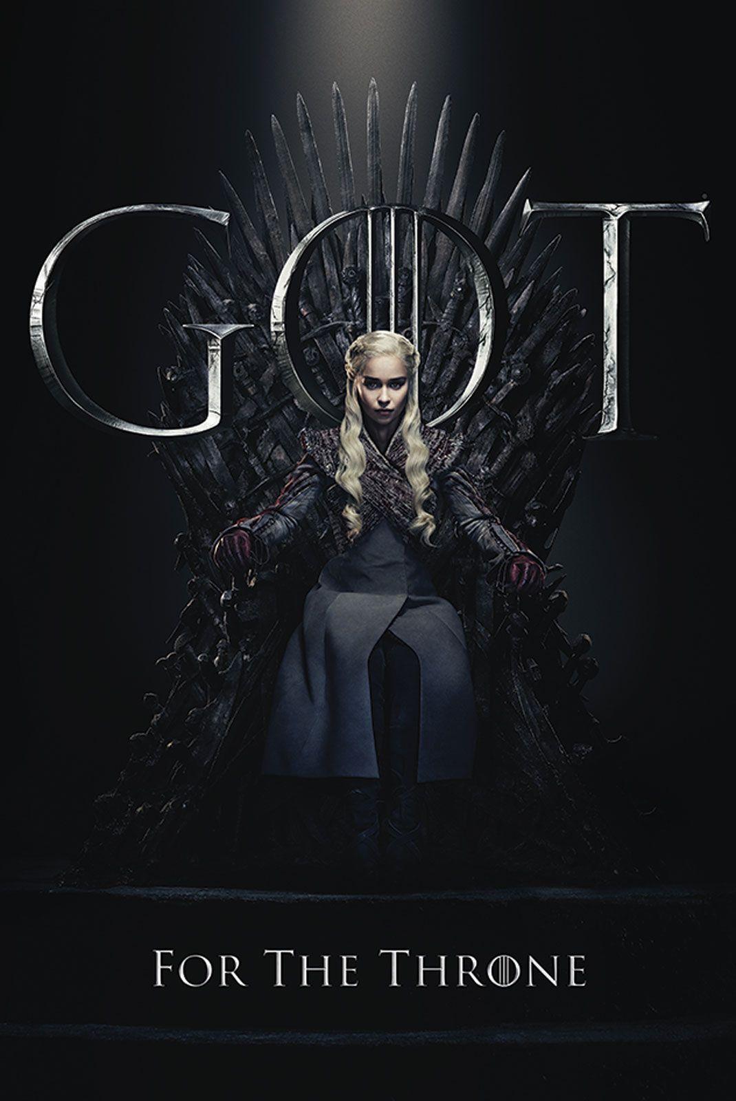 Poster z Daenerys na Tronie