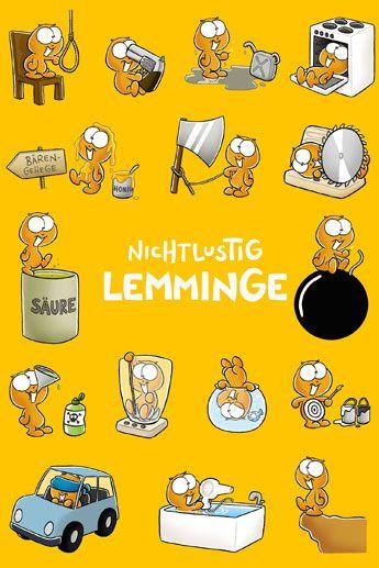 Lemminge Lemingi Plakat