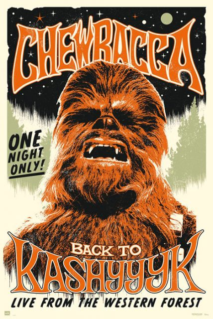 Star Wars - Chewbacca Back To Kashyyyk - plakat
