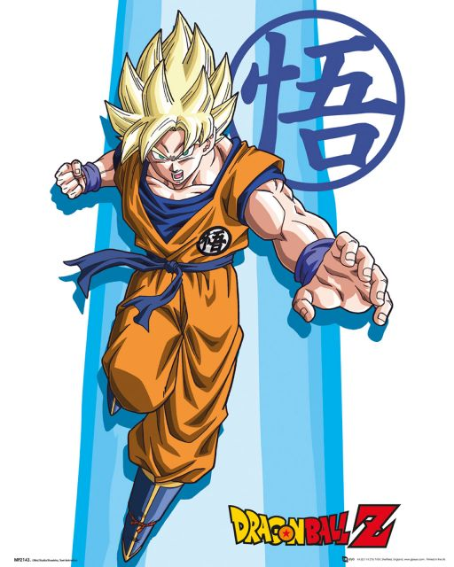 Plakat z anime Dragon Ball Z SS z Son Goku