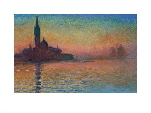 reprodukcja Monet - Sunset in Venice