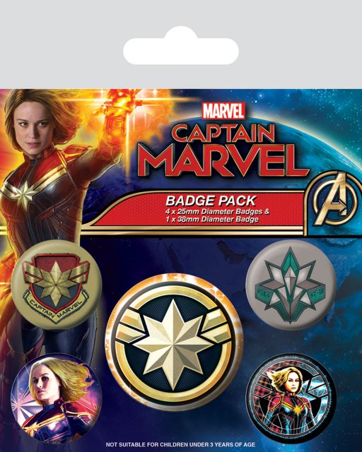 Captain Marvel Patches - przypinki