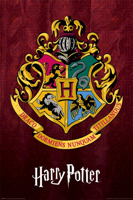 Harry Potter Hogwarts School Crest - plakat