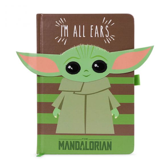 Star Wars The Mandalorian I'm All Ears Green - notes A5
