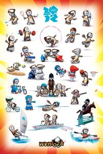 London 2012 Olimpiada (Wenlock Sport Poses) - plakat