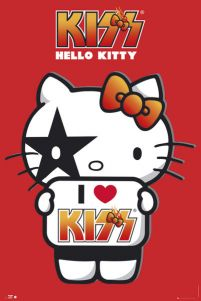 Hello Kitty Kiss I Love - No Germany - plakat