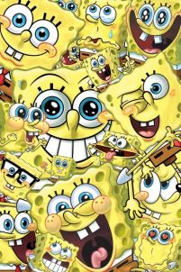 Spongebob (Faces) - plakat