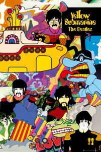 The Beatles Yellow Submarine - plakat rysunkowy