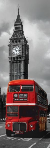 England, Anglia - London Red Bus - plakat