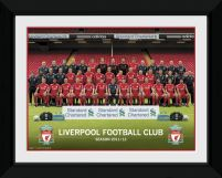 Liverpool Team Photo 11/12 - obraz w czarnej ramie