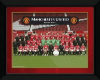 Manchester United Team Photo 11/12 - obraz w ramie