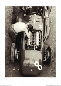 Jesse Alexander Ferrari Mechanic, French GP, 1954 - reprodukcja