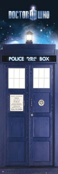 plakat z Doctor Who Tardis