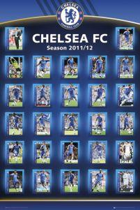 52fe91a23b31 plakat na ścianę z sylwetkami zawodników Chelsea na sezon 2011 12