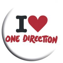 One Direction I Love - przypinka