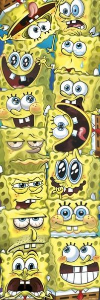 Spongebob, Kanciastoporty (Faces) - plakat