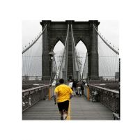 Yellow on Brooklyn Bridge - reprodukcja