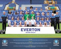 Everton Team Photo 12/13 - plakat