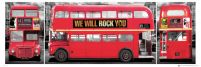London Bus Triptych - plakat
