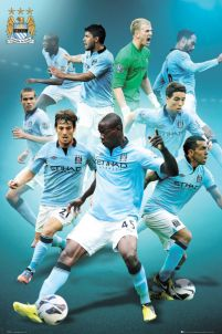 Manchester City Players 12/13 - plakat